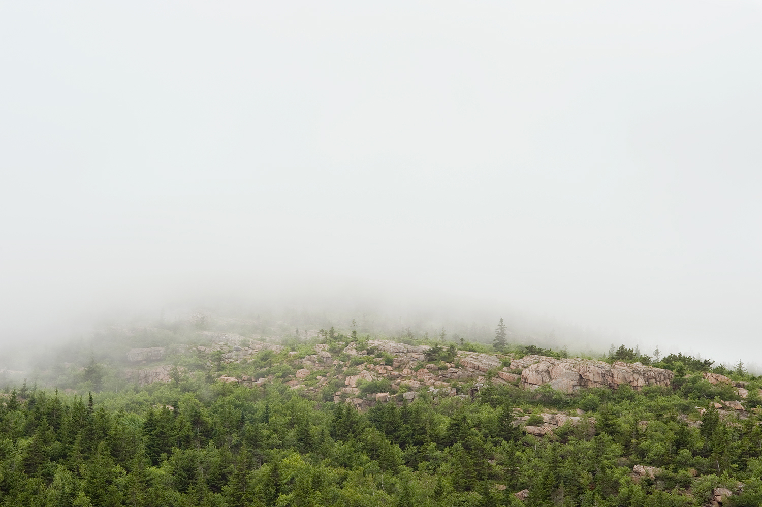 Cadillac Mountain Bathed In Clouds no. 1