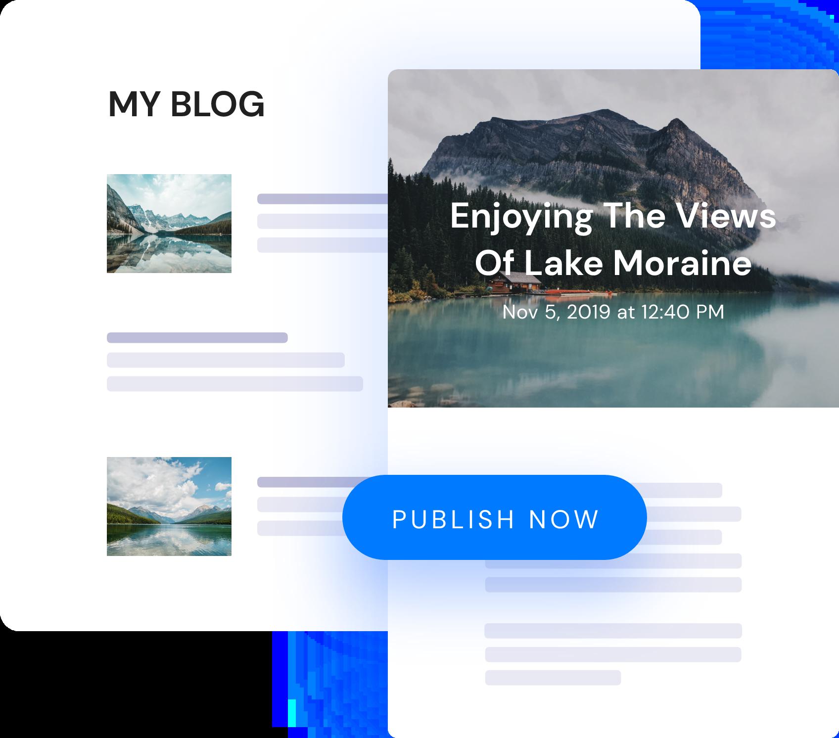 Image one click publishing