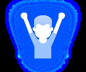 Cheering Boy Icon