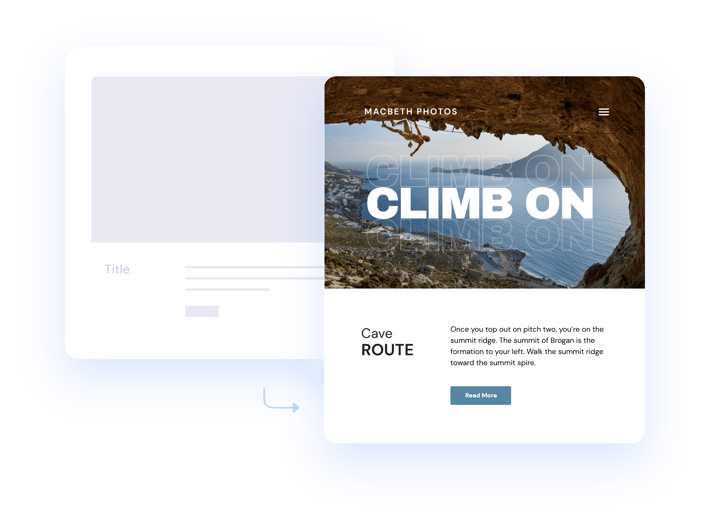 Website page sample