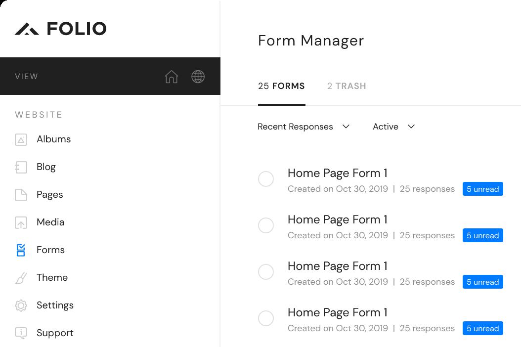 Foliowebsites Form Manager