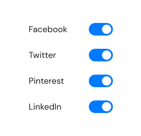 Social media switches