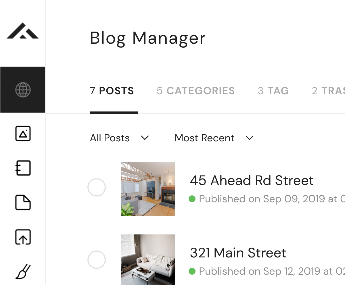 Blog post manager sample